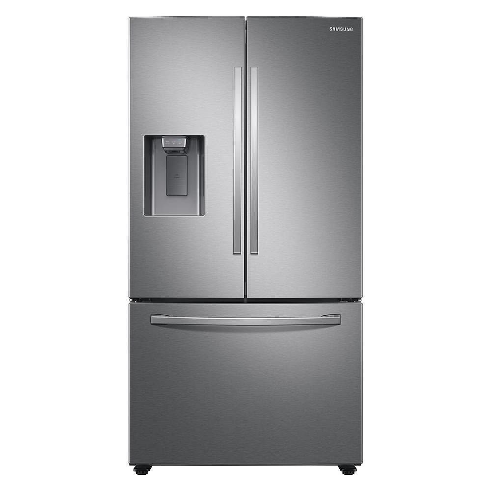 Samsung 36-inch W 27 cu. ft. French Door Refrigerator in Stainless Steel, Standard Depth - ENERGY STAR®