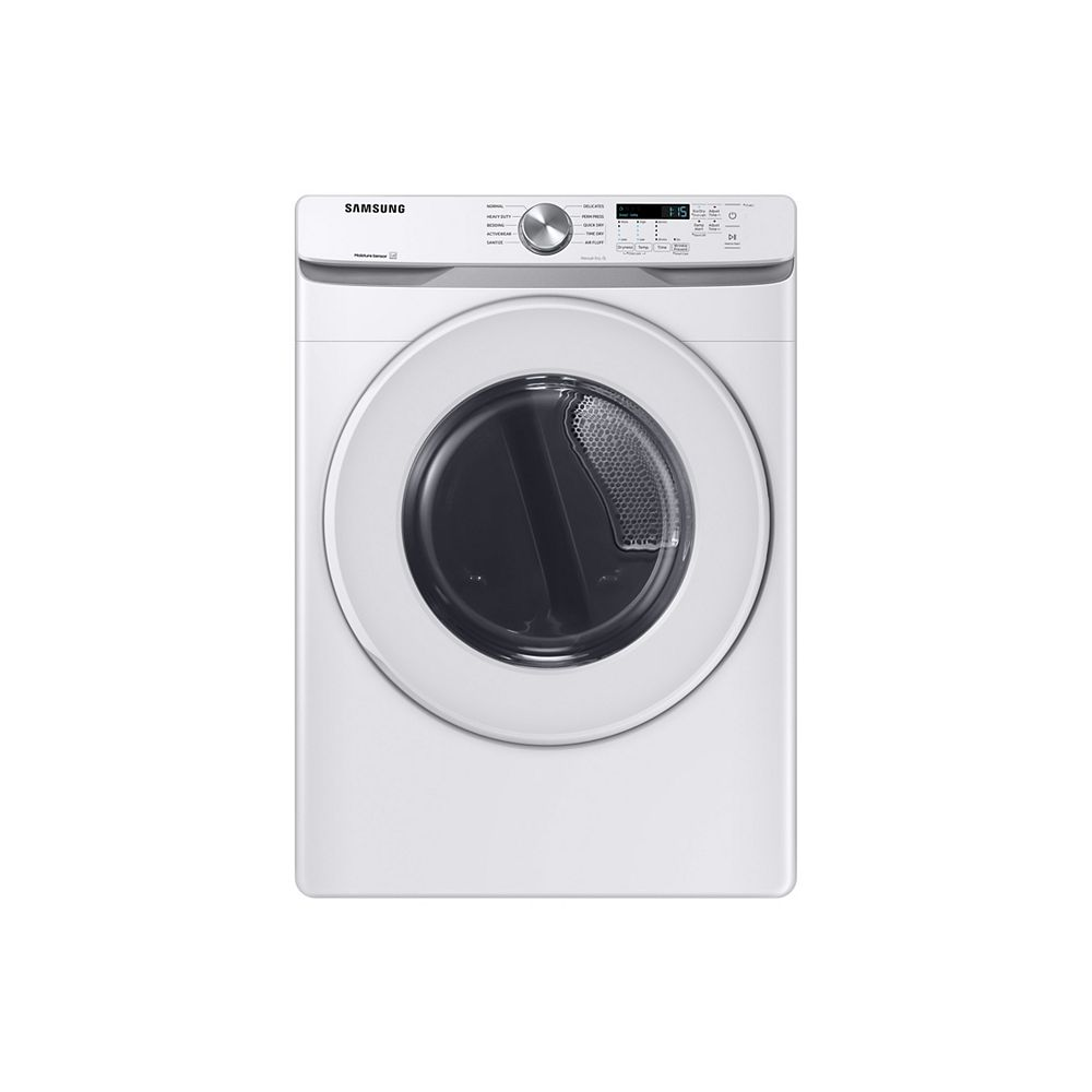 Samsung 7.5 cu. ft. Electric Dryer with Sensor Dry in White - ENERGY STAR®