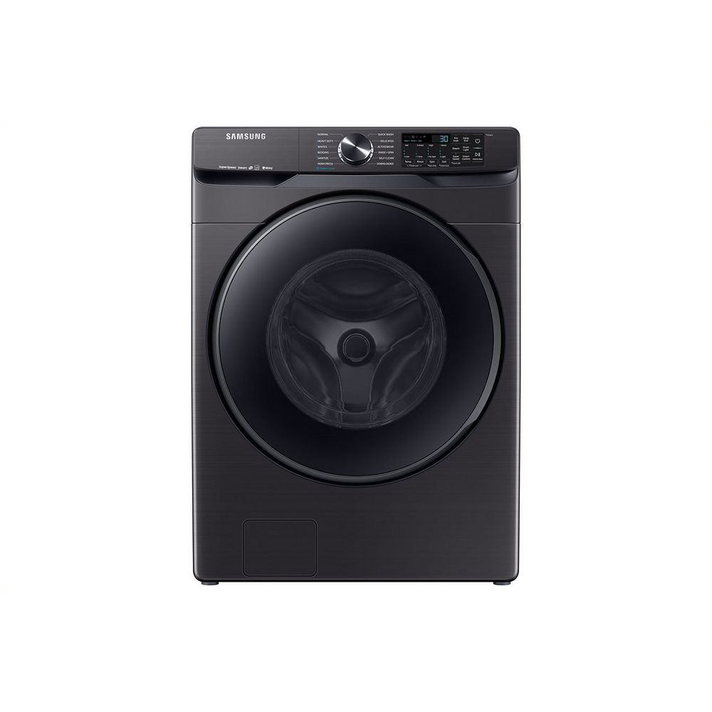 Samsung 5.8 cu. ft. High-Efficiency Front Load Washer with Steam in Black Stainless Steel -  ENERGY STAR®