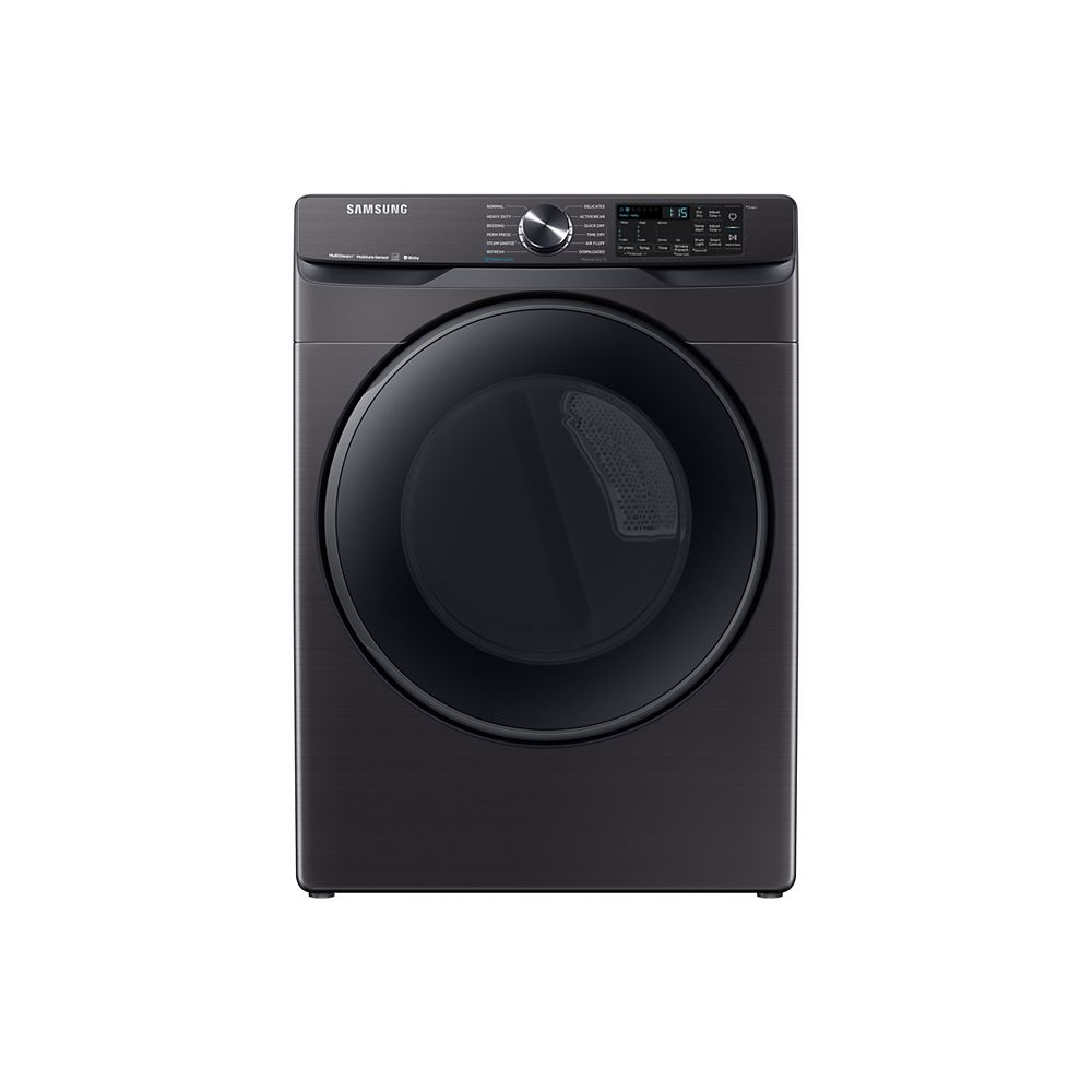 Samsung 7.5 cu. ft. Front Load Electric Dryer with Steam Sanitize+ in Black Stainless Steel - ENERGY STAR®