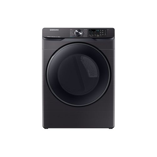 7.5 cu. ft. Front Load Electric Dryer with Steam Sanitize+ in Black Stainless Steel - ENERGY STAR®