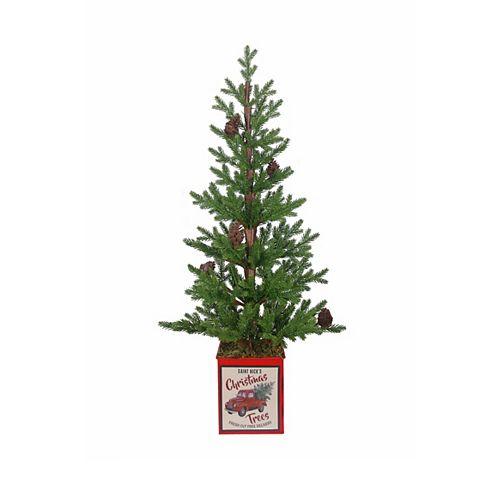 24-inch Saint Nick Table Top Christmas Tree