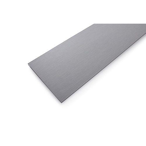 Tablette en bois laminé gris sergé de 12 po x 72 po