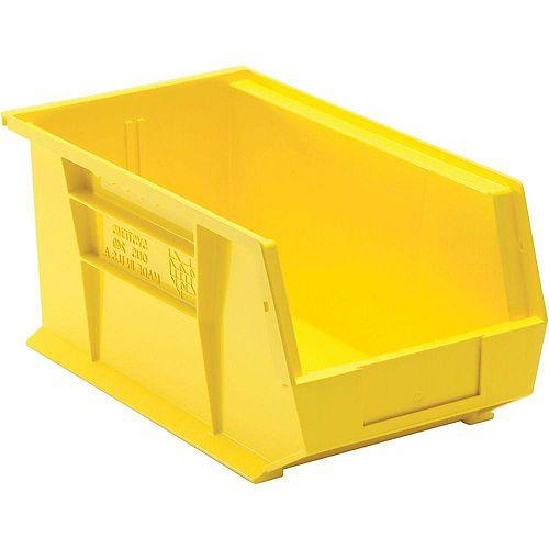 3.4-Gal. Stackable Plastic Storage Bin in Yellow (12-Pack)