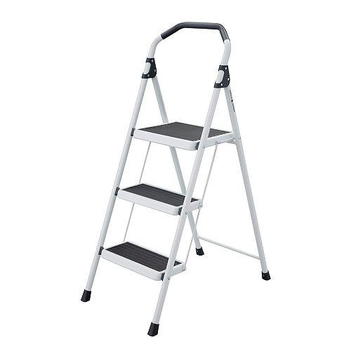 3-Step Steel Lightweight Step Stool Ladder Type II Duty Rating