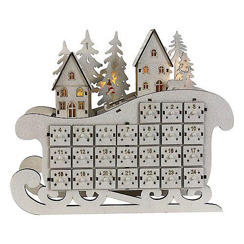 13.5 inch LED Advent Calendar Sleigh