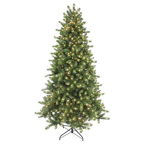7.5 ft. 700-Light Colour Changing Micro Dot LED Pre-Lit Fenwick Pine Christmas Tree