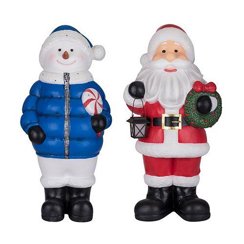3 ft. Santa Christmas Decoration with Solar LED Lantern