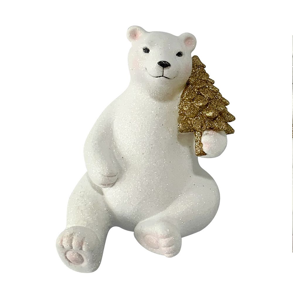 Home Accents 6 Inch Polar Bear Christmas Stocking Hanger The Home Depot Canada