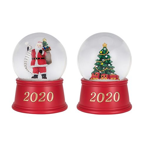 Home Accents 5.5-inch Musical Snow Globe Christmas Decoration