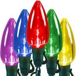 66 ft. 100-Light C9 Transparent Multi Colour LED Ultra Bright String Light Set