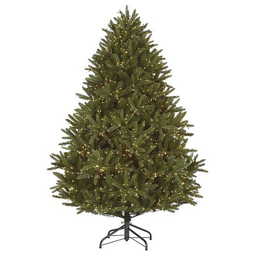 Home Accents 6.5 ft. 2000-Light Warm White 7-Function LED-Lit Indoor Douglas Fir Christmas Tree