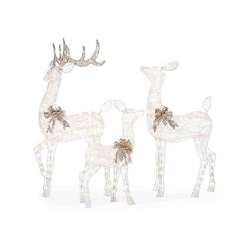 3-Piece LED Deer Scene Christmas Decoration