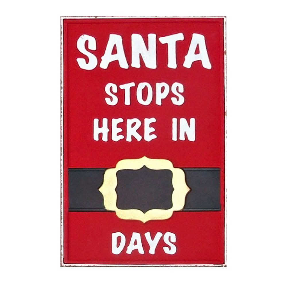 Home Accents Holiday Santa Sign. Outdoor Covered