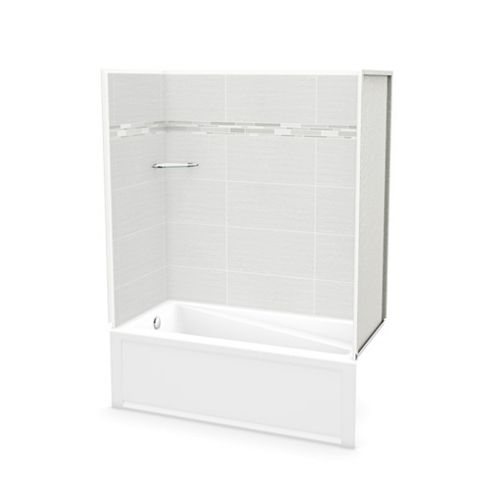 Utile 60-inch x 30-inch x 80 1/2-inch Origin Arctik Tub Shower with New Town Bathtub Left Drain
