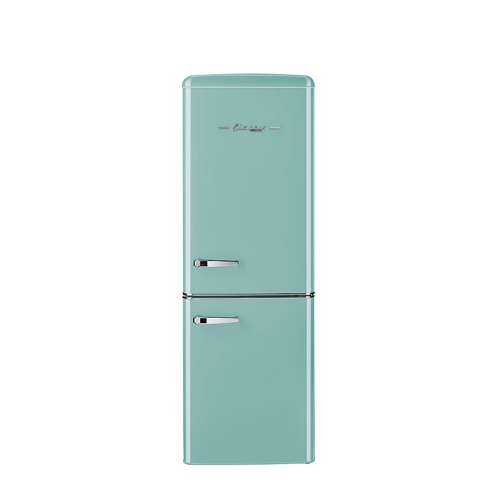 Unique Retro 21.6-inch 7 cu. ft. Bottom Freezer Refrigerator in Ocean Mist Turquoise