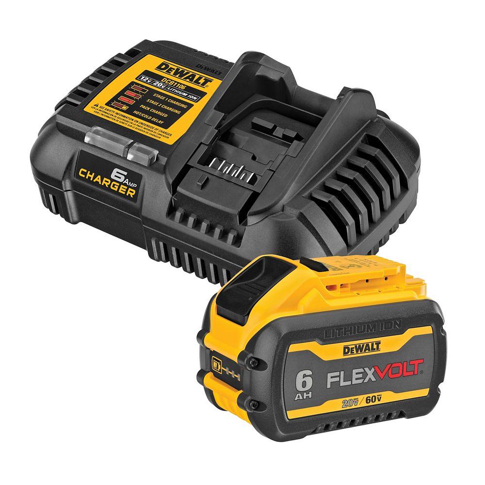 DEWALT 20V/60V MAX FLEXVOLT Lithium-Ion Premium 6Ah Battery Pack & Charger