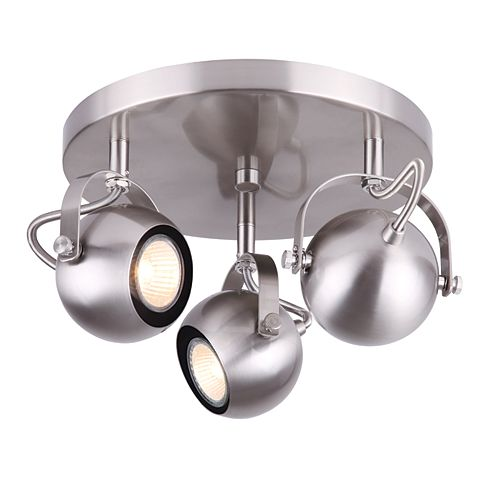 Murphy 3-Light Brushed Nickel Ceiling Track Light