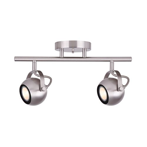 Murphy 2-Light Brushed Nickel Track Light