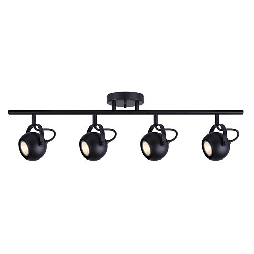 Murphy 4-Light Matte Black Track Light