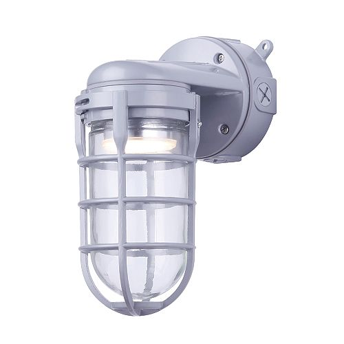 LED Grey Outdoor Barn Light/Wall Lantern