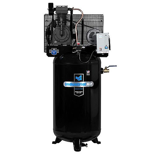 80 Gal. 3 Phase Stationary Electric Air Compressor