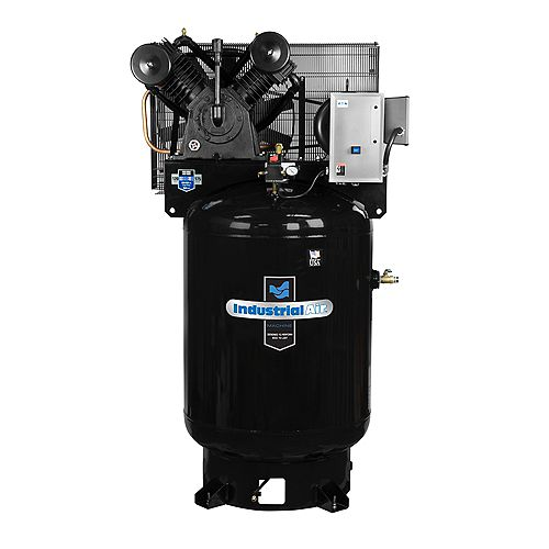 120 Gal. 2 Stage Stationary Electric Air Compressor 208-230 Spread Volt