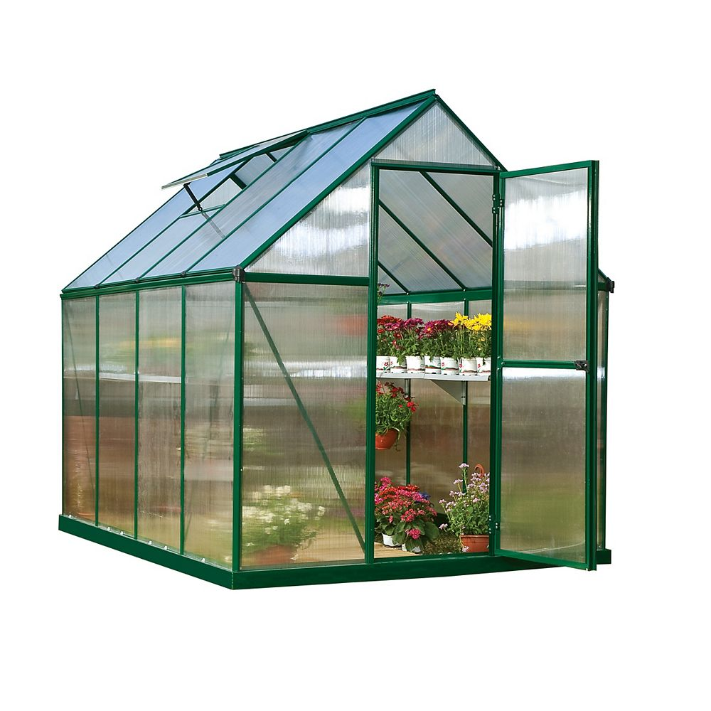 Palram Palram Mythos 6 ft. x 8 ft. Greenhouse in Green