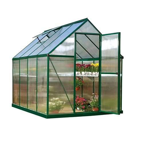 Palram Mythos 6 ft. x 8 ft. Greenhouse in Green