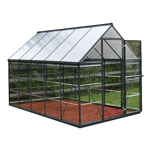 Palram Hybrid 6 ft. x 10 ft. Greenhouse in Grey