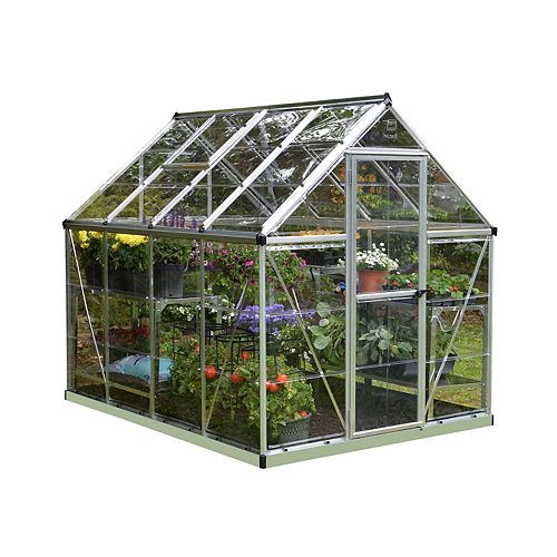 Palram Harmony 6 ft. x 8 ft. Greenhouse in Silver