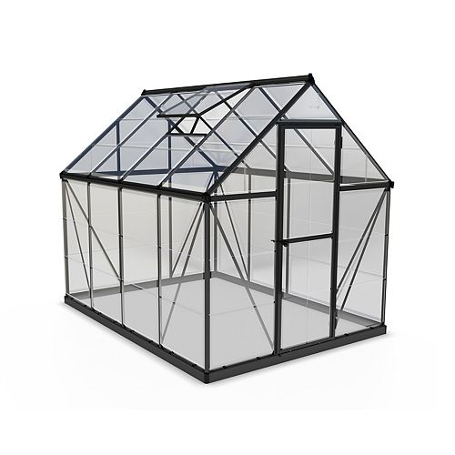 Palram Palram Harmony 6 ft. x 8 ft. Greenhouse in Grey