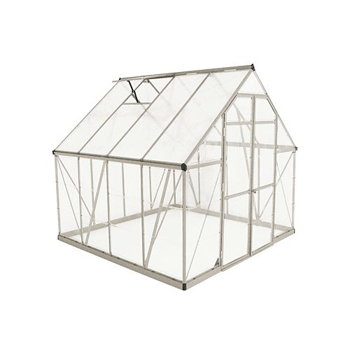 Palram Palram Balance 8 ft. x 8 ft. Greenhouse in Silver