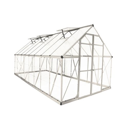 Palram Balance 8 ft. x 16 ft. Greenhouse in Silver