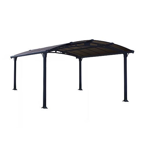 Palram Arcadia 4300 Carport / All-Seasons Shelter 12 ft. x 14 ft.