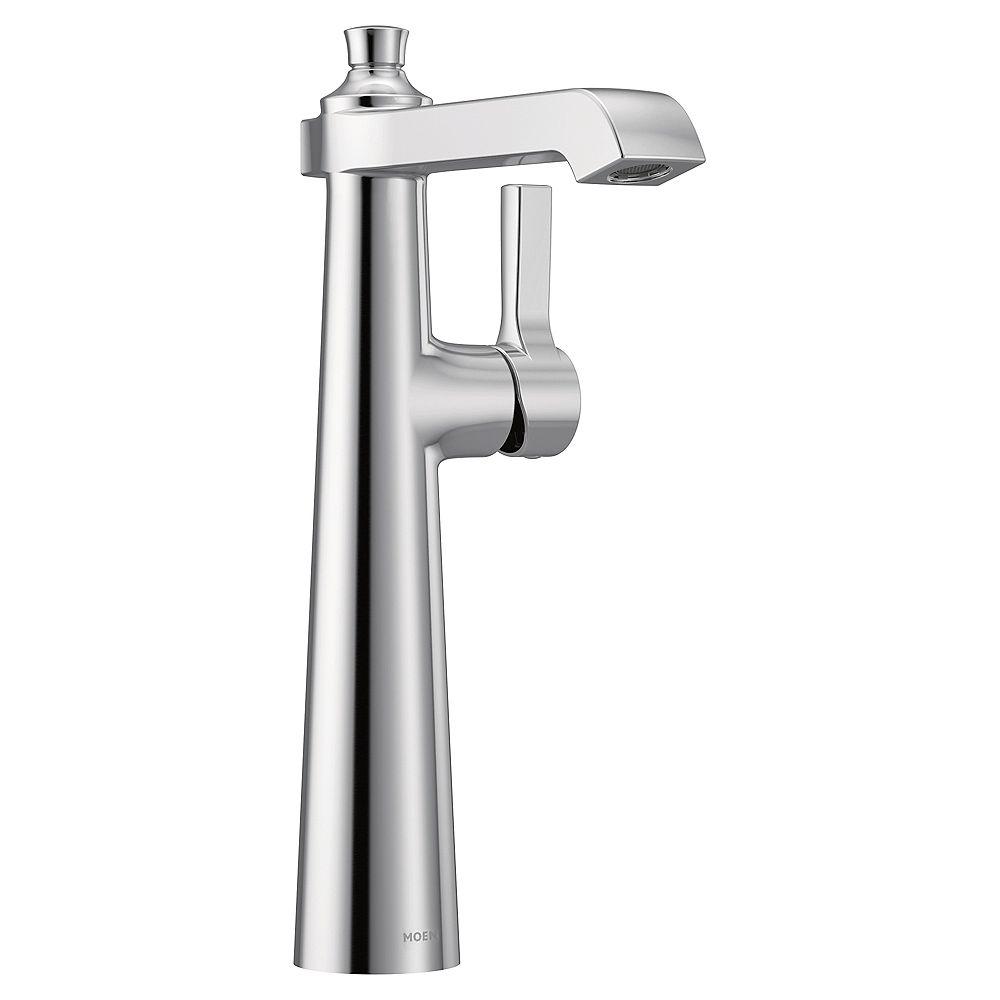 MOEN Flara Single Hole Single-Handle Vessel Bathroom Faucet in Chrome