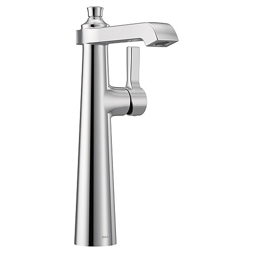MOEN Flara Single Hole Single-Handle Vessel Bathroom Faucet in Chrome