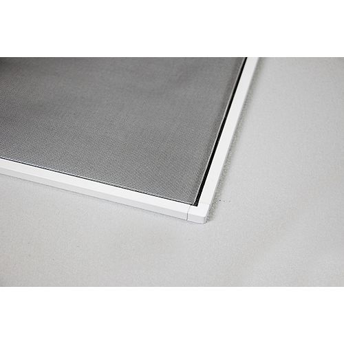 48-inch W x 48-inch H Adjustable Window Insect Screen Kit in White
