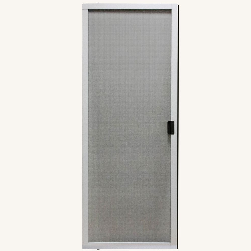 Peak Products 30-inch W x 80-inch H Adjustable Sliding Insect Screen Door Kit in White