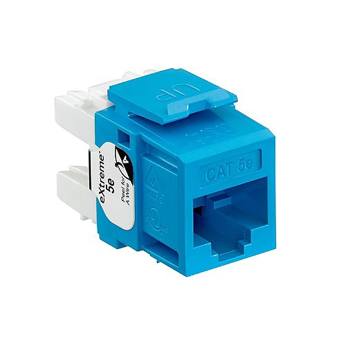 GigaMax 5e+ QuickPort Connector, CAT 5e, blue