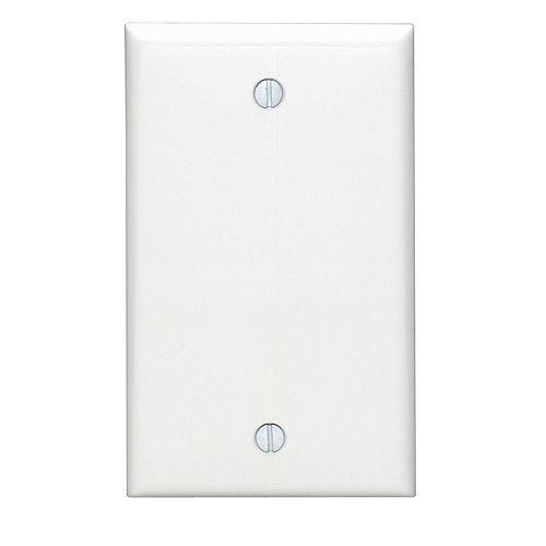 Plaque murale simple, un obturateur, sans dispositif - Blanc
