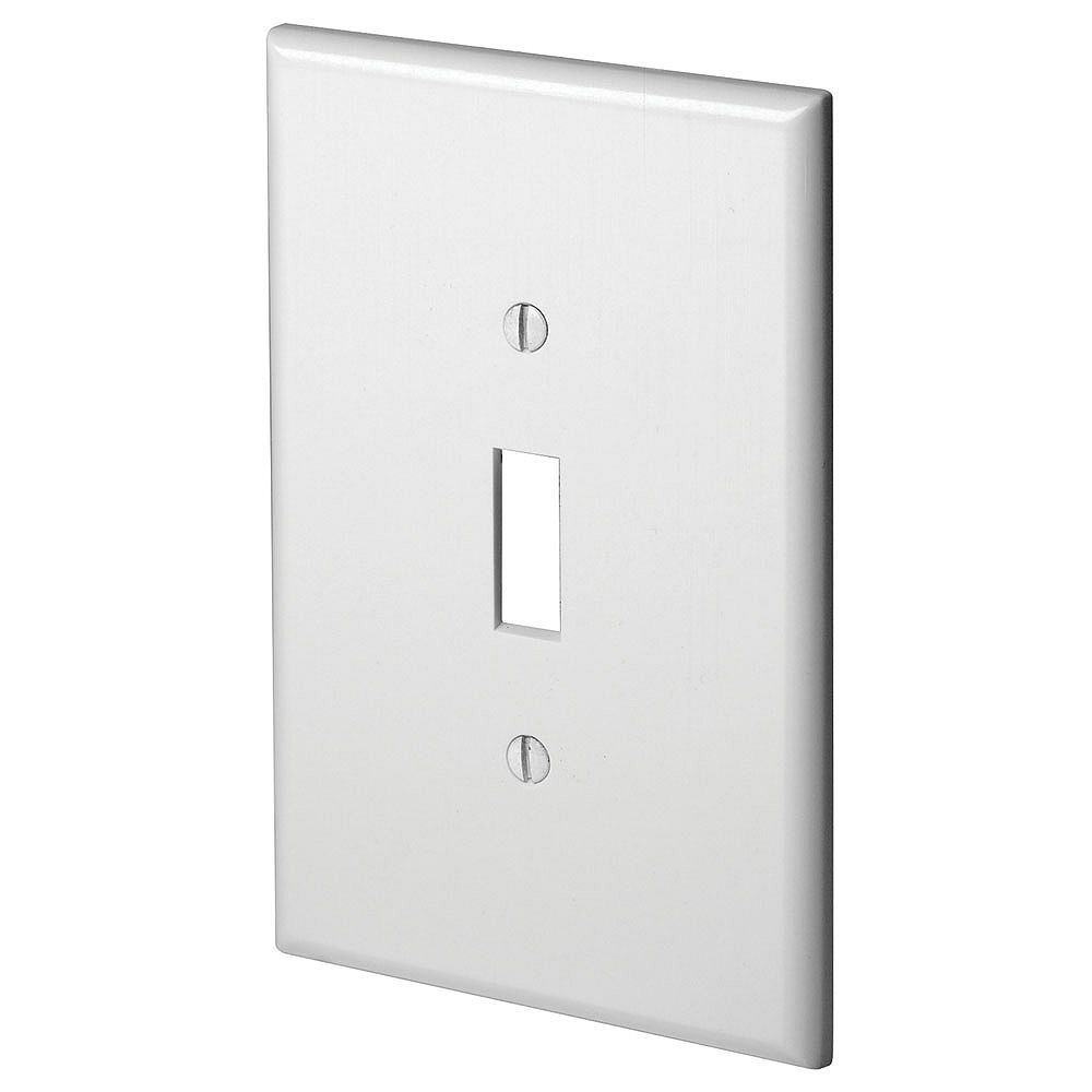 Leviton Wallplate 1 Gang Toggle Device Switch Oversized Thermoset Device Mount White The Home Depot Canada