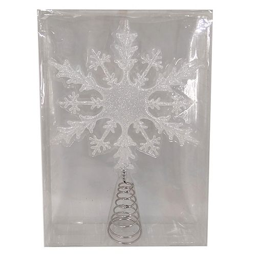 Home Accents Holiday 16-inch Snowflake Christmas Tree Topper Decoration