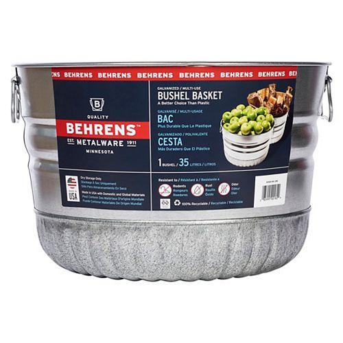 Behrens 35L Galvanized Bushel Basket
