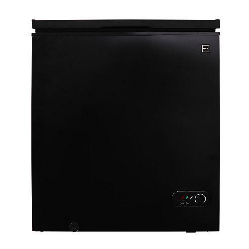 5.1 CU FT Compact Chest Freezer - Black