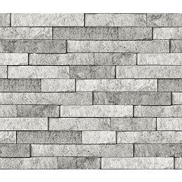 Grey Stone Peel & Stick Backsplash