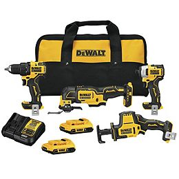 20V MAX ATOMIC Lithium-Ion Cordless Brushless Combo Kit (4-Tool) with (2) 2Ah Batteries, Charger and Bag
