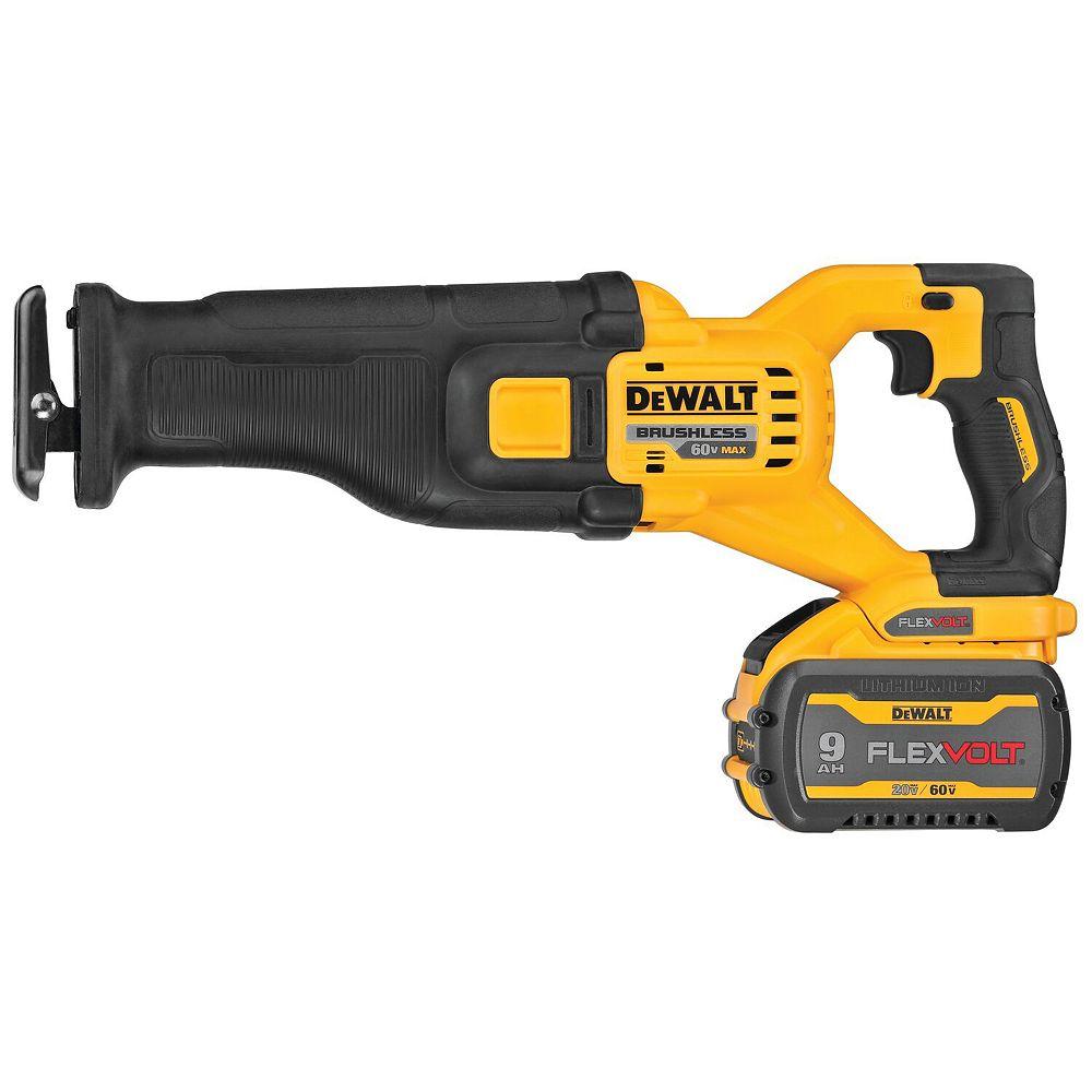 Dewalt DCS389X1 FLEXVOLT 60- Volt MAX Brushless Cordless Reciprocating Saw Kit