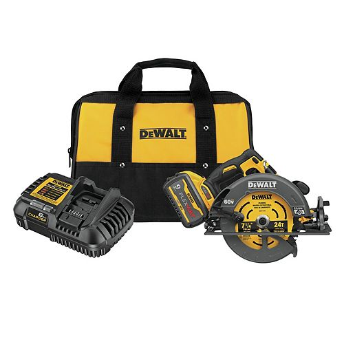 FLEXVOLT 60V MAX Brushless 7-1/4-inch Cordless Circular Saw with Brake Kit