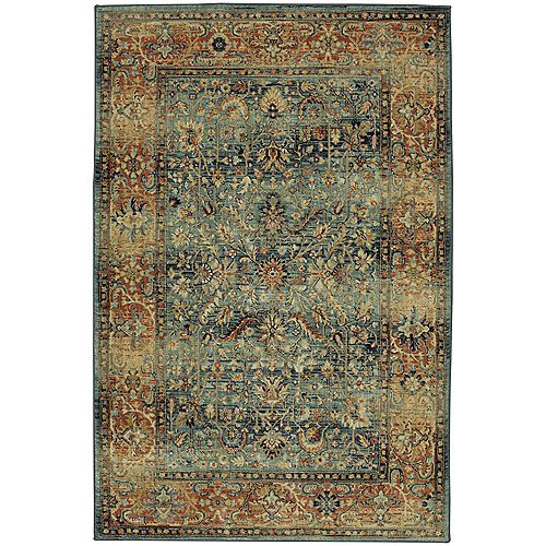 Mohawk Home Aksel Blue 5 ft. 3-inch x 7 ft. 10-inch Indoor Area Rug
